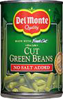 Del Monte Fresh Cut Green Beans NO SALT ADDED
