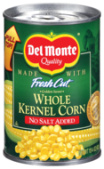 Del Monte Fresh Cut Whole Kernel Corn NO SALT ADDED