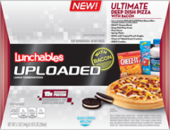 OSCAR MAYER LUNCHABLES UPLOADED Ultimate Deep Dish Bacon Pizza