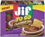 Jif® To Go™ Chocolate Silk Peanut Butter & Chocolate Flavored Spread