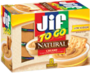 Jif® To Go™ Natural Creamy Peanut Butter Spread