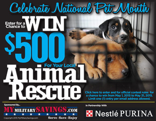 Purina 2015 Celebrate National Pet Month Sweepstakes
