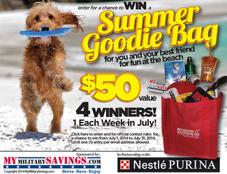 Purina July Summer Fun Goodie Bag Sweepstakes