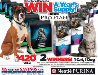 Purina Pro Plan Giveaway Sweepstakes